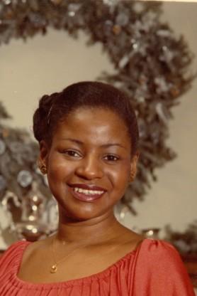 Phyllis Warren at Christmastime