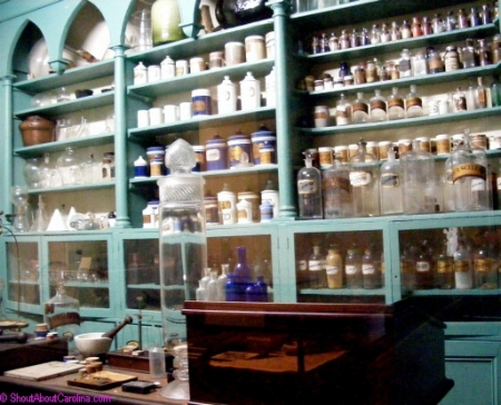 Inside an historic apothecary shop