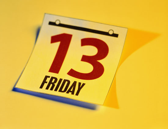 Some people have a negative reaction to Friday, the 13th, but believers are encouraged to have no fear.