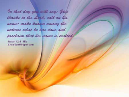 Isaiah 12--4a