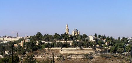 This photo of Mount Zion is taken from Abu Tor.