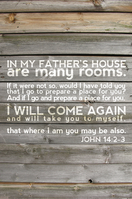 The familiar passage from John 14 brought to mind thoughts about heavenly mansions.