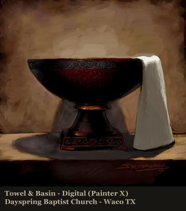 basin and towel