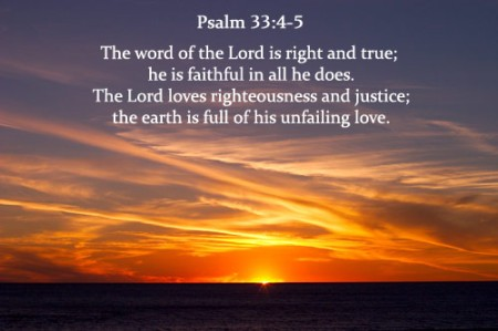 Psalm 33_4-5