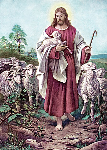 The accompanying painting by 19th Century German artist Bernard Plockhorst depicts the Good Shepherd whose sheep follow Him willingly and eagerly because he is willing to do anything for their well being, even if it means laying down his own life.