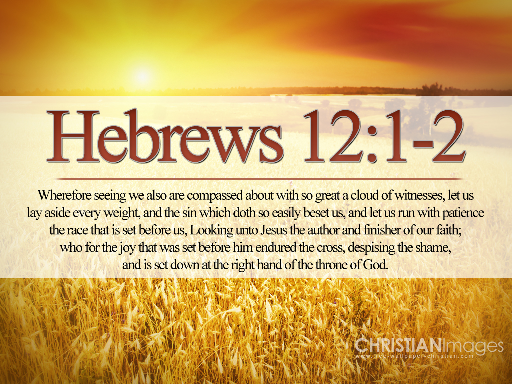 Hebrews 12:2 Looking unto Jesus the author and finisher of ...