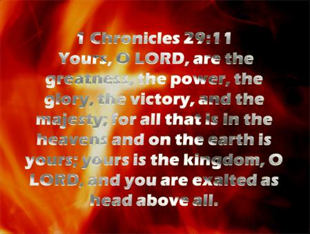 1 Chronicles 29--11