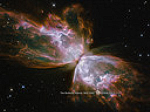 Interstellar gas and dust form nebulae, such as these butterfly nebulae, another awesome display of God's handiwork.
