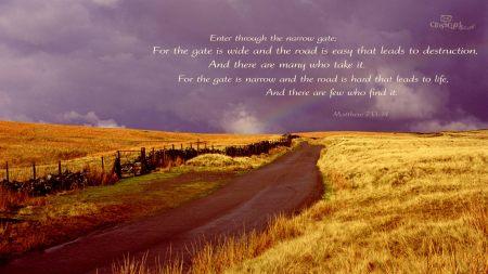 Matthew 7--13-14