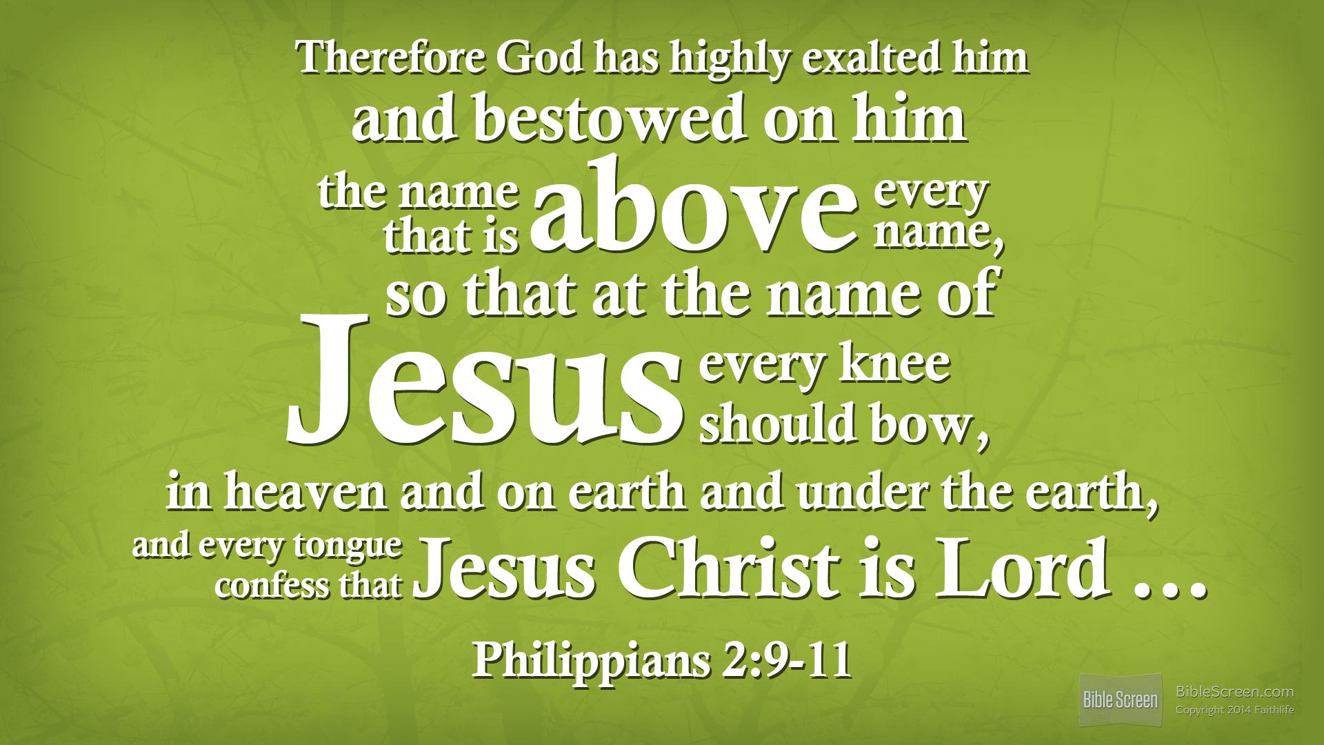 Philippians 2.9-11