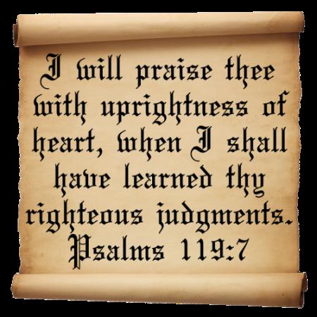 Psalm  119-Verse-7