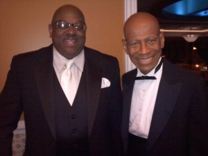 Minister Ron Hill and Dr. J in a photo taken in Columbus, OH.