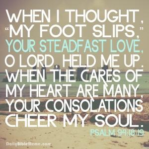 Psalm 94-18-19