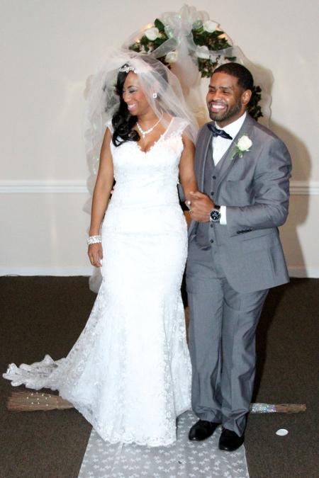 Angela and Shajuan Joyner on their wedding day, December 21, 2014