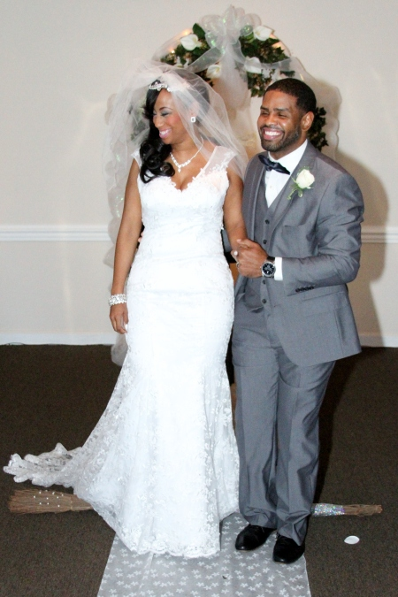 Angela and Shajuan Joyner on their wedding day, December 21, 2014