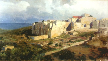 A painting of Bethlehem in 1882 by Palenov
