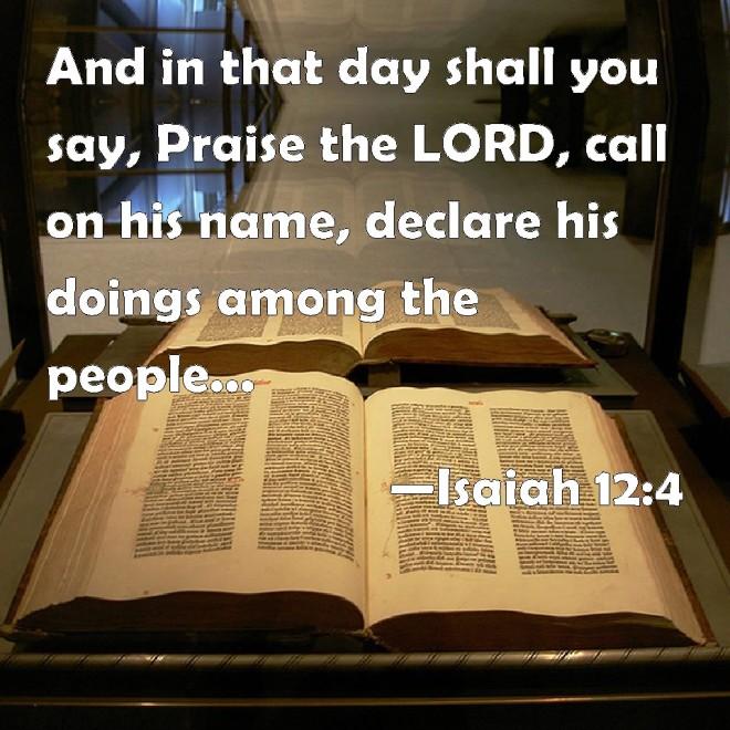 Isaiah 12--4