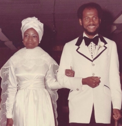 Lonnell and Brenda on their wedding day.