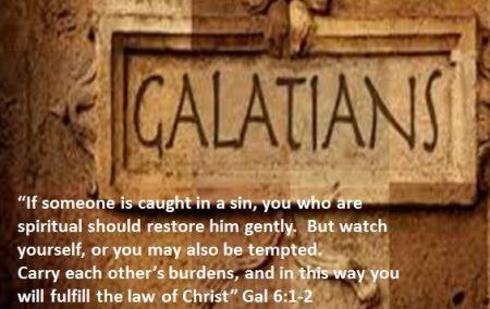 Galatians 6--1-2