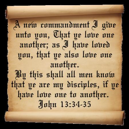 John 13-34-35
