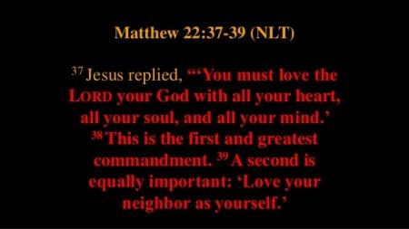 Matthew 22--37-39 2