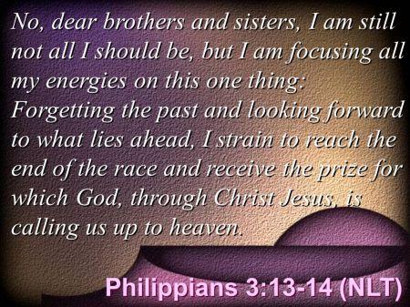 Philippians 3--13-14