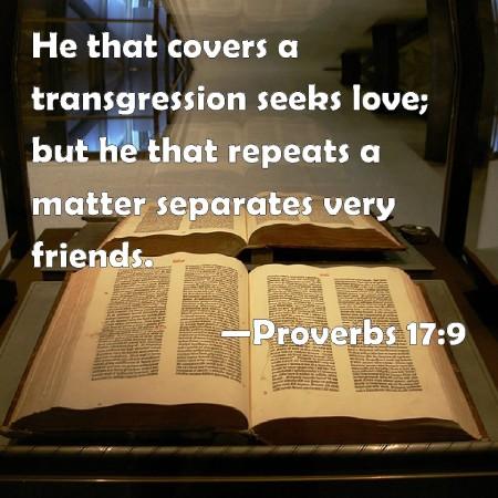 Proverbs 17--9