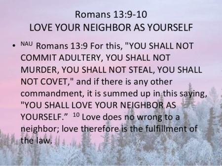 Romans 13--9-10