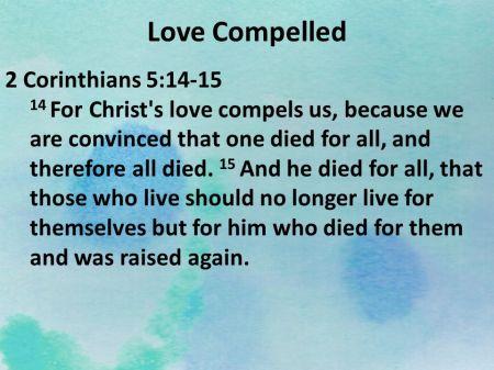 2 Corinthians 5--14-15