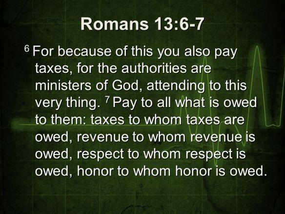 Romans 13:6-7 | Dr. J's Apothecary Shoppe
