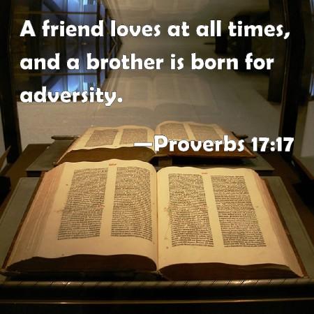 Proverbs 17--17