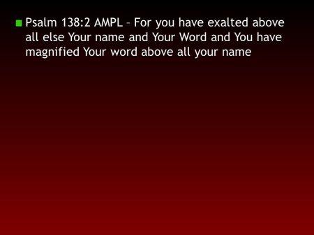 Psalm 138--2