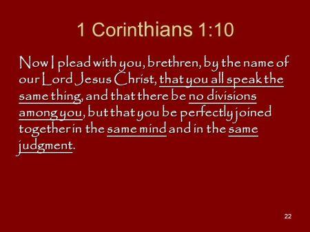1 Corinthians 1--10