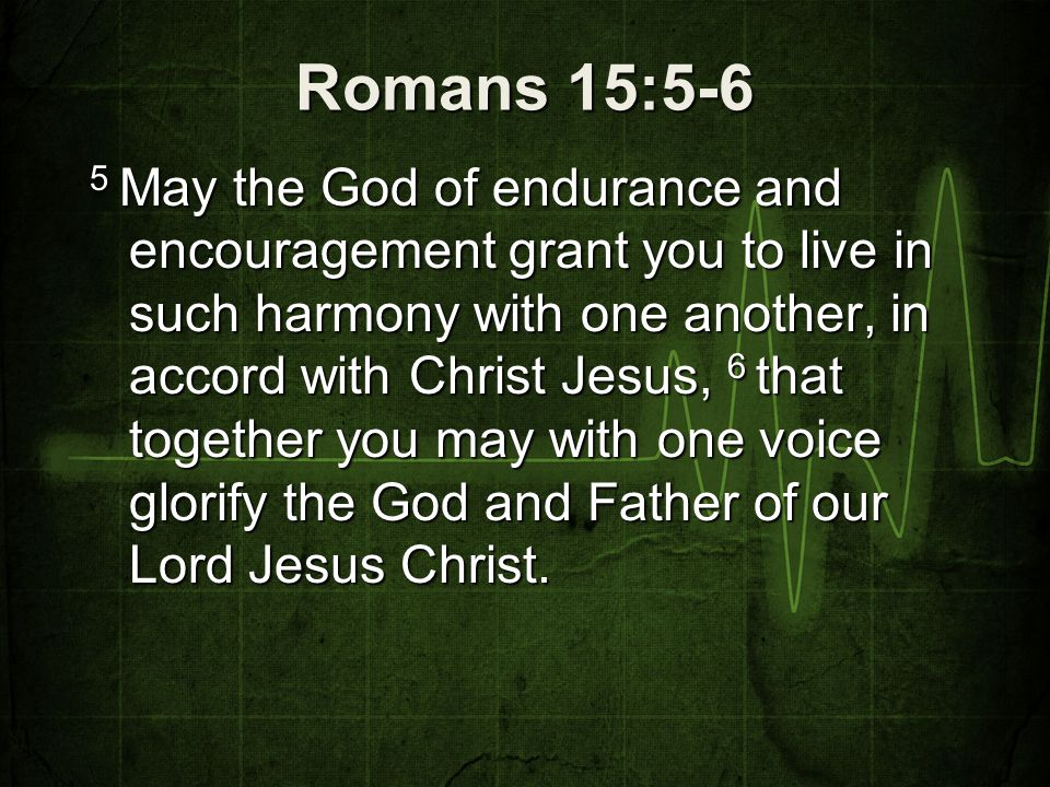 Romans 15--5-6