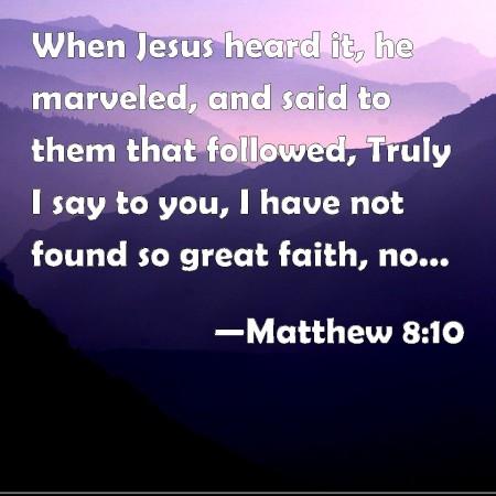 Matthew 8--10