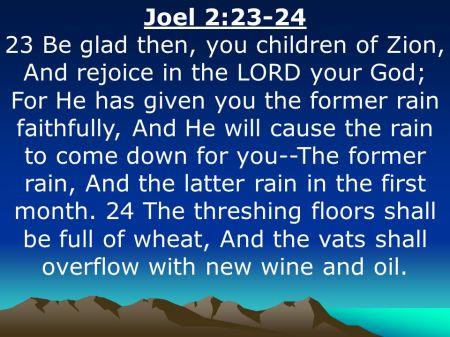 Joel 2 23-24