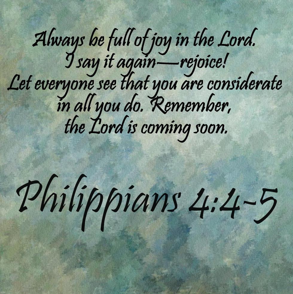 Philippians 4--4-5