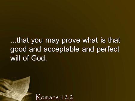 Romans 12--2 last part