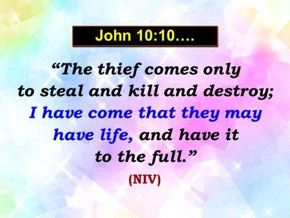 John 10:10 | Dr. J's Apothecary Shoppe