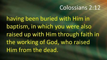 Colossians 2--12